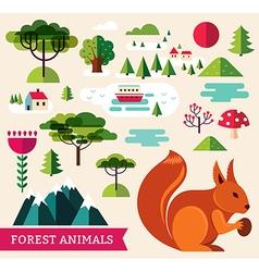 Forest animals - Squirrel vector image