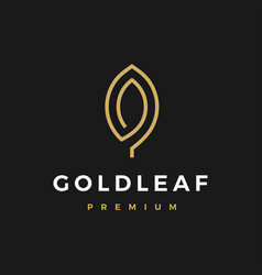 gold leaf logo icon vector image