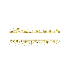 Golden glitter shiny particles background vector image