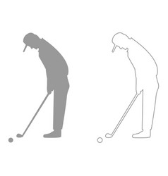 Golfer set icon vector