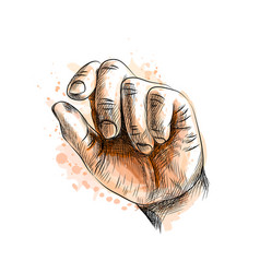 hand showing size gesture vector image