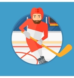 Ice hockey player with stick vector image