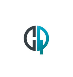 initial letter cq creative design logo vector image