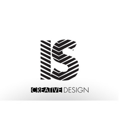 Is i s lines letter design with creative elegant vector
