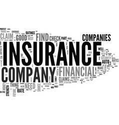 Is your insurance company rated text background vector