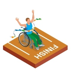 Isometric sports for peoples with disabled vector