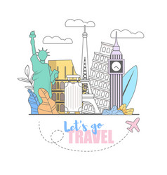 lets go travel baggage is already collected vector image