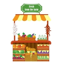 Local farmer produce shop vector