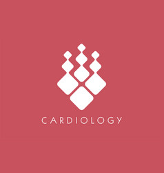 logo cardiology abstract artery clinical doctor vector image