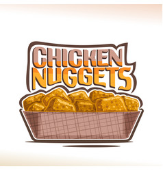 logo for crispy chicken nuggets vector image