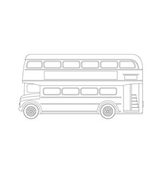 london bus profile view vector image