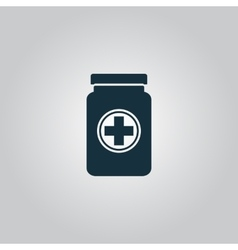 Medical container vector image