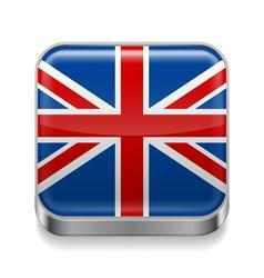 Metal icon of United Kingdom vector