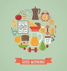 modern flat design of Good morning vector image