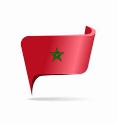 Moroccan flag map pointer layout vector