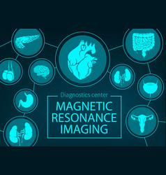 Mri organs and joints medicine vector