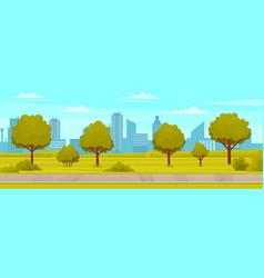 Natural landscape around highway view garden vector