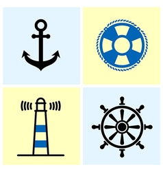 Nautical Symbols Set vector image