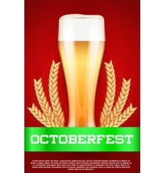 Octoberfest beer poster vector