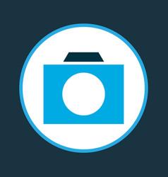 Photographing icon colored symbol premium quality vector