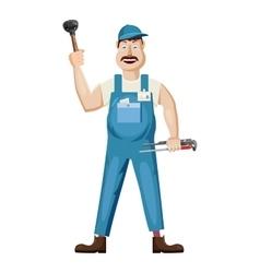 Plumber icon cartoon style vector image