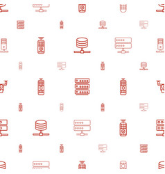 Remote icons pattern seamless white background vector