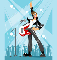 rock singer at a concert vector image
