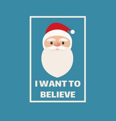 Santa claus concept poster t shirt print design vector