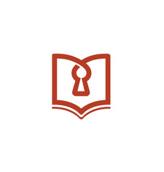 Secure privacy book lock logo vector