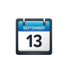 September 13 Calendar icon vector image