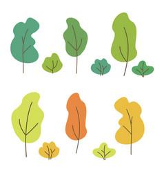 set green yellow orange vector image