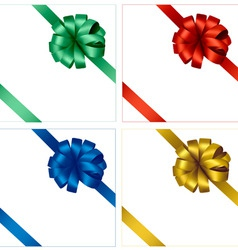 set of four colored bows vector image