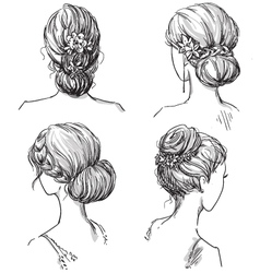Set of hairstyles vector