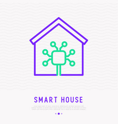 smart house thin line icon vector image