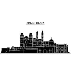 Spain cadiz architecture city skyline vector