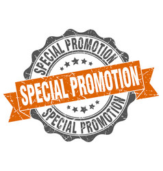 special promotion stamp sign seal vector image