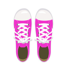 sports shoes gym shoes keds pink colors for vector image