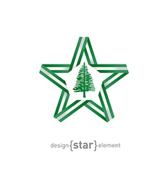 star with flag of Norfolk Island colors and vector image