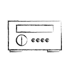 Stereo home appliance icon vector