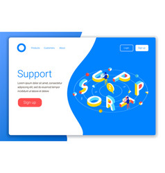 Support service design concept vector