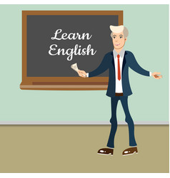 Teacher english lesson vector