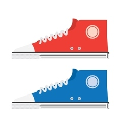 The isolated modern sneakers vector image