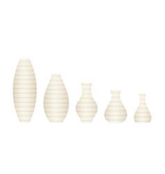 vase set in flat design vector image