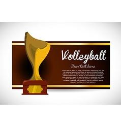 Volleyball design vector