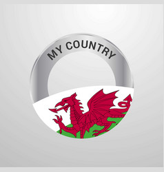 Wales my country flag badge vector
