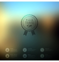 web and mobile interface template Travel vector image