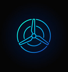 Wind energy blue concept icon vector
