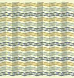 Zigzag pattern with ripple effect in retro colors vector