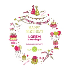 Birthday Party Invitation Card vector image vector image