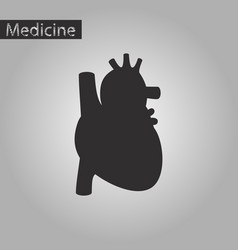 black and white style icon of heart vector image